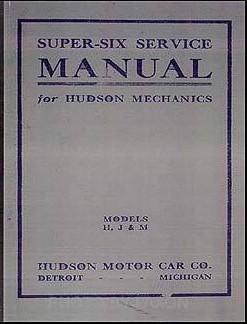 HUDSON Six 40 Model 1916 Service Manual